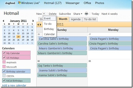 Import Facebook calendar birthdays & events (2/4)